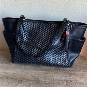 Coach | Woven leather tote